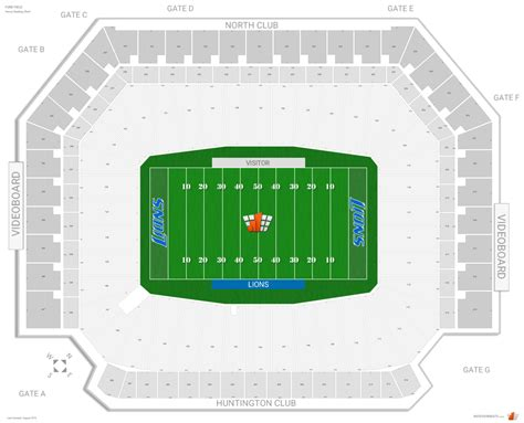 detroit lions seating guide ford field rateyourseats