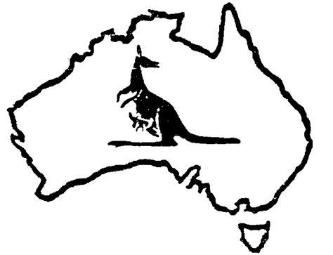 Outline Pty Ltd by Australia Map Kangaroo With Joey Map Australia By Masalki Pty Ltd 354121