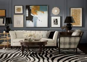 zebra living room set this ethan allen zebra rug in expresso ivory gives this