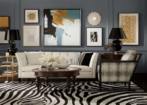 Zebra Rug In Living Room by This Ethan Allen Zebra Rug In Expresso Ivory Gives This