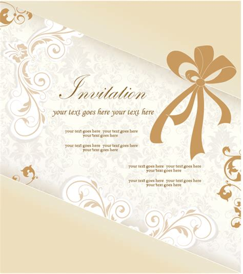 wedding invitation card design vector free download floral elegant invitation cards vector set 04 free free
