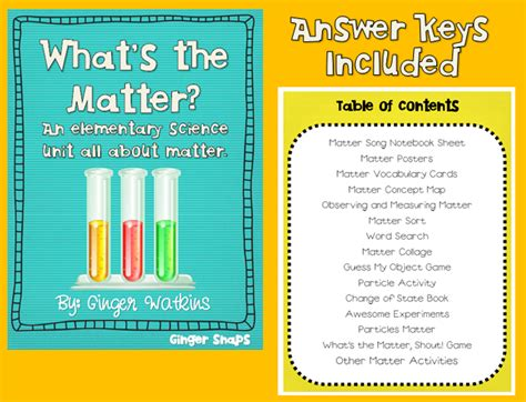 what s the matter snaps what s the matter a science unit and a freebie
