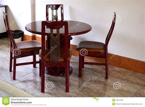solid wood kitchen table set stock photo image 46672494