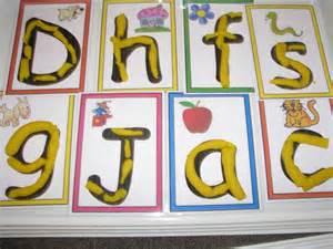 alphabet play dough learning 4