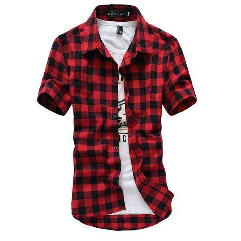 checkered shirt pattern name aliexpress com buy blue red black plaid shirt men shirts