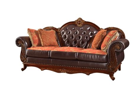 traditional button tufted sofa traditional brown button tufted leather living room
