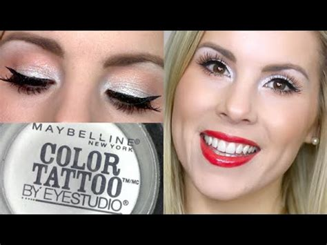holiday makeup tutorial too cool maybelline color tattoo