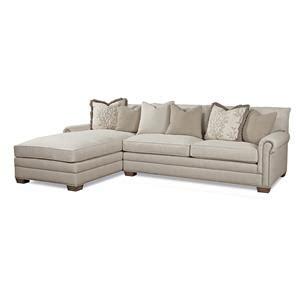 Huntington Sectional Sofa by Huntington House 7107 Traditional Sectional Sofa With