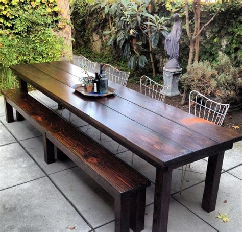 farmhouse patio table beautiful wood work by jr riggins arbor woodworking