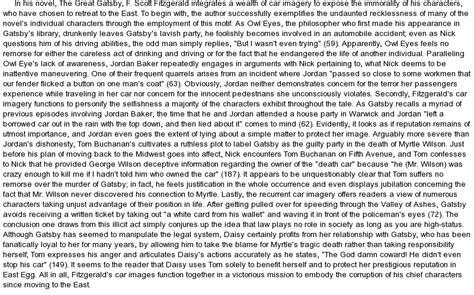 symbolism in the great gatsby essay conclusion symbolism in the great gatsby essay research