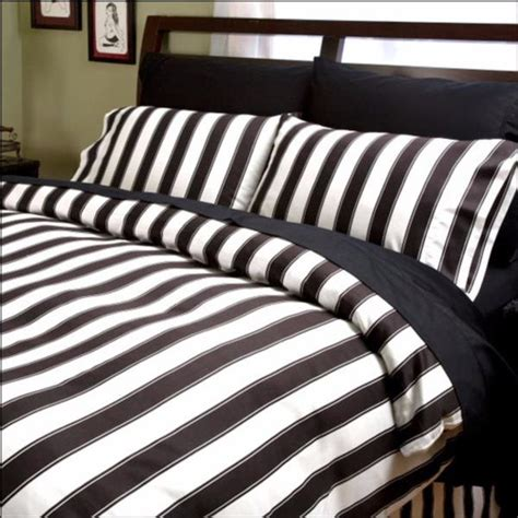 black and white striped comforter gothic bedding and decor dark glamor by sin in linen