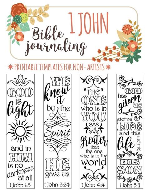 scripture journal templates 1 bible journaling printable templates for non