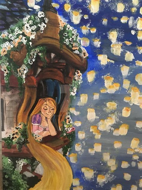 painting rapunzel rapunzel painting by micropixels on deviantart