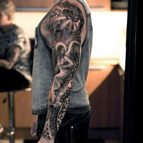 angel sleeve tattoo 80 cloud tattoos for dwelling designs