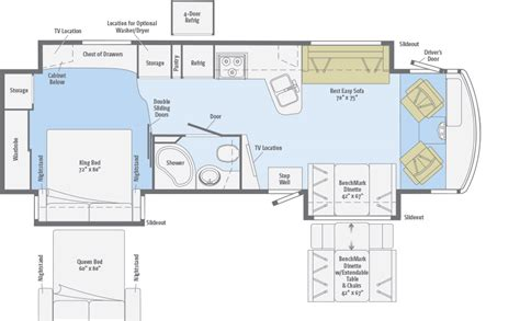 motorhome floor plans class a adventurer floorplans winnebago rvs