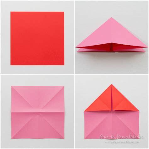 imagenes de flores origami paso a paso corazones de origami con alas gu 237 a de manualidades