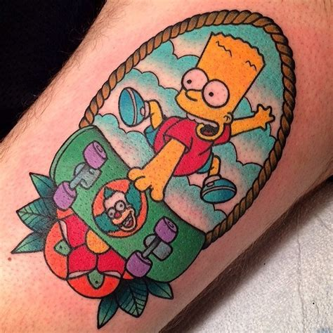 the simpsons tattoo the simpsons simpsons tattoos instagram fyspringfield