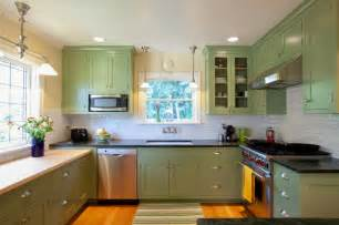 Kitchen Cabinets Painted Green Colorful Painted Kitchen Cabinets For Eye Catching Looks