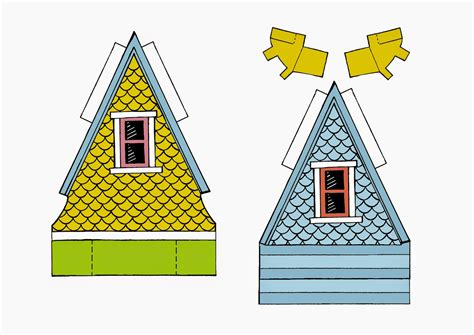 printable house from up peach bum up house printable template