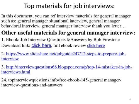 top 36 general manager questions and answers pdf