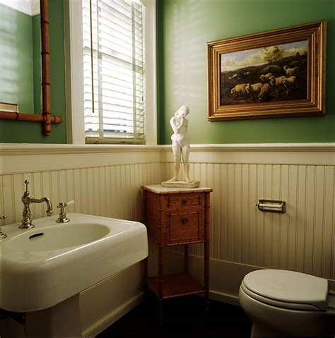 bathroom with paneling wood paneling in the bathroom