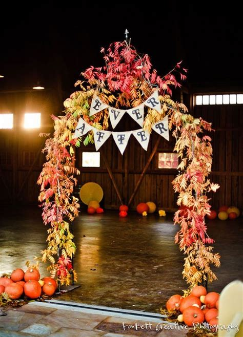 autumn themed wedding decorations 25 best ideas about fall wedding arches on