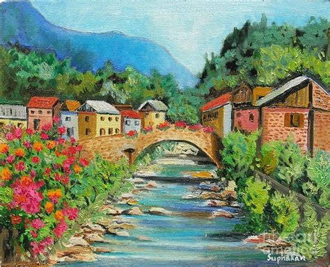 small villages small village painting by suphakan brusorio