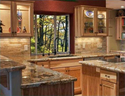 hickory cabinets with granite countertops 13 best hickory cabinet countertops images on