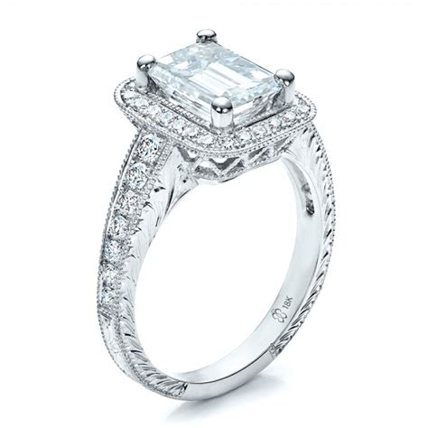 custom emerald cut engagement ring 1478 bellevue