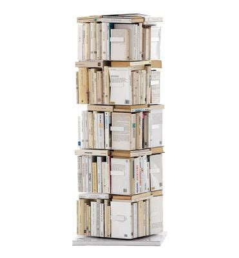 ptolomeo rotating bookshelf 4 sides vertical storage