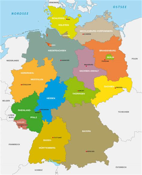 states germany map map of germany guide of the world