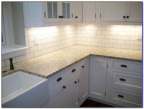 White Subway Tile Backsplash Grout Color Tiles Home Grouting Tile Backsplash