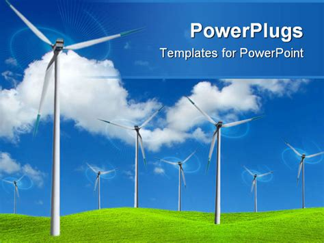 energy powerpoint templates powerpoint template wind farm turbines to produce