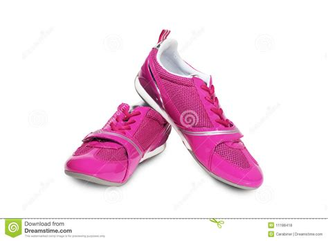 pink athletic shoes pink athletic shoes royalty free stock photos image