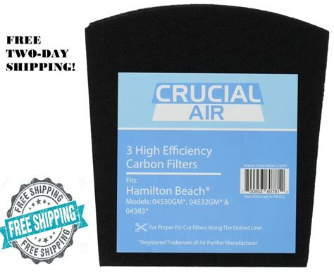 replacement filter hamilton beach true air purifier odors