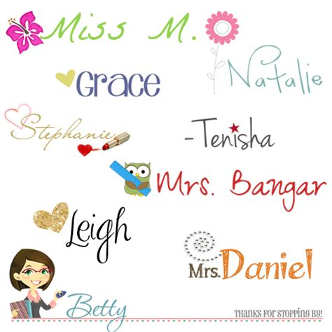 cute custom signature blogger ideas cutest