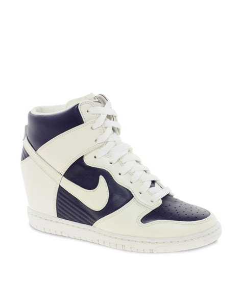 wedge nike sneakers nike fast sky high wedge sneakers in white