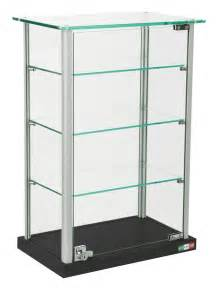 Glass Display Cabinet For Jewelry Small Glass Display Adjustable Shelves Locking