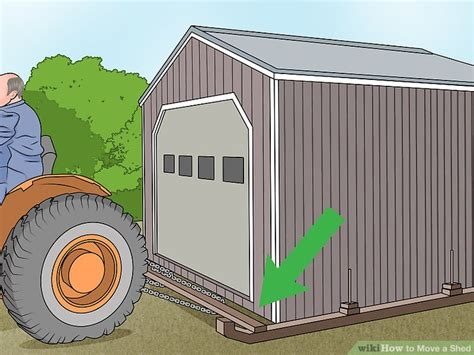 moving a large wooden shed 4 ways to move a shed wikihow