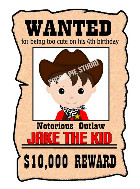 printable poster pin printable wanted posters for kids on pinterest