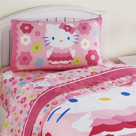 hello kitty comforters hello kitty girls 3 pc sheet set