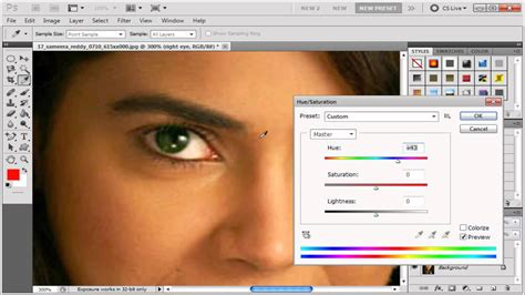 photoshop online tutorial in tamil adobe photoshop tamil tutorial 07 changing eye color