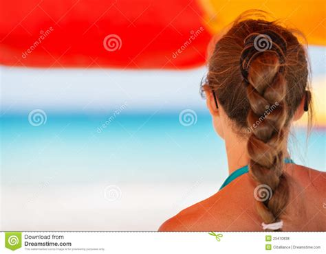 woman looking into distance royalty free stock photos image 5371368 woman on beach looking into distance royalty free stock