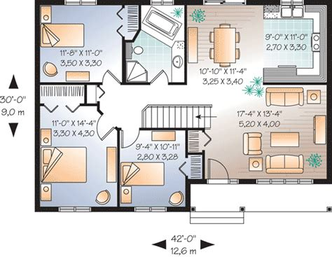Ranch 3 Bedroom House Plans by 3 Bedroom Ranch Home Plan 21605dr 2nd Floor Master