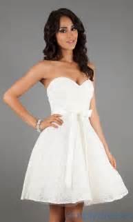 mori lee 31005 short sweetheart ivory lace dress