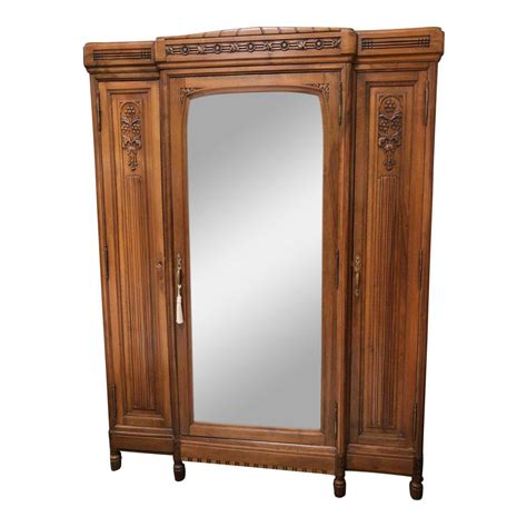 Armoires Design Plus by Vintage Walnut Three Door Armoire With Mirror