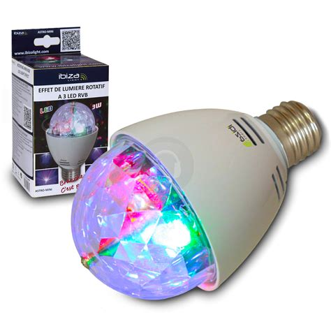 rotating led disco light ibiza rotating mini rgb led disco glitter ball light bulb