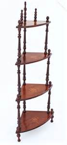Whatnot Shelf by 19c Mahogany Whatnot Shelves Bookcase Antiques
