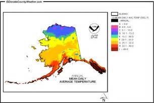 us temperature map alaska alaska climate map for annual daily average temperature