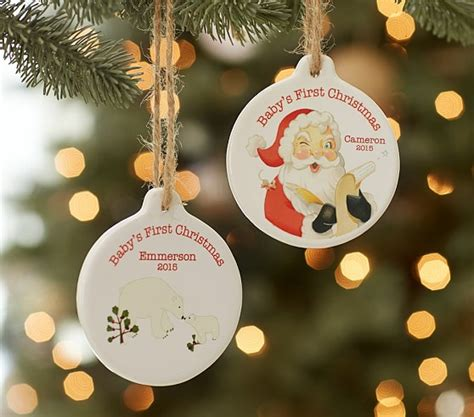 personalized baby ornaments baby s personalized ornaments pottery